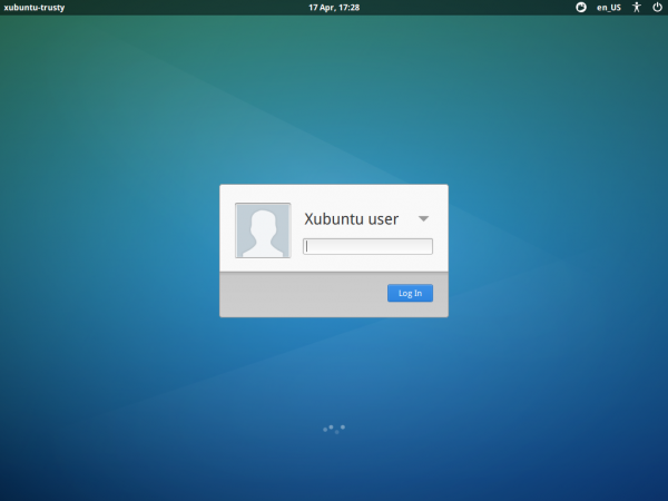 Xubuntu 14.04: Login screen