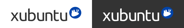 Xubuntu logo, 2012 version. Light and dark background versions.