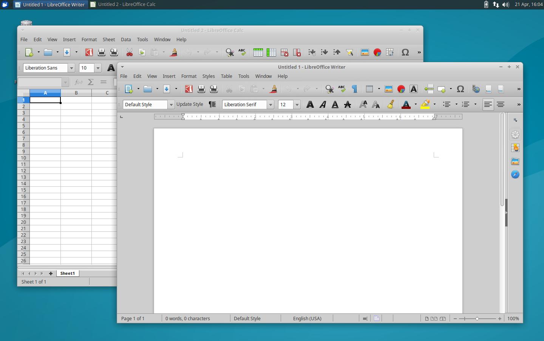 Xubuntu 16.04: LibreOffice